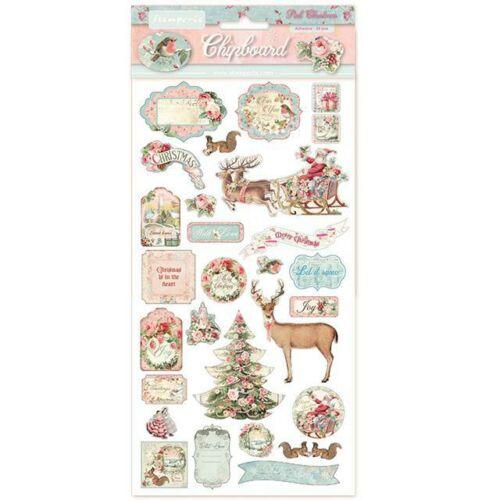 Chipboard - 15x30 cm - Pink karácsony