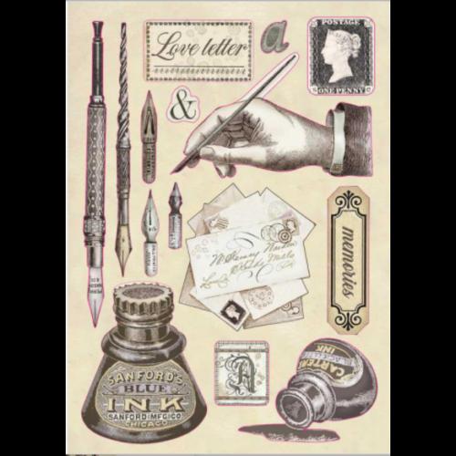 Fafigura, színes - A5 - Kézírásos tinta