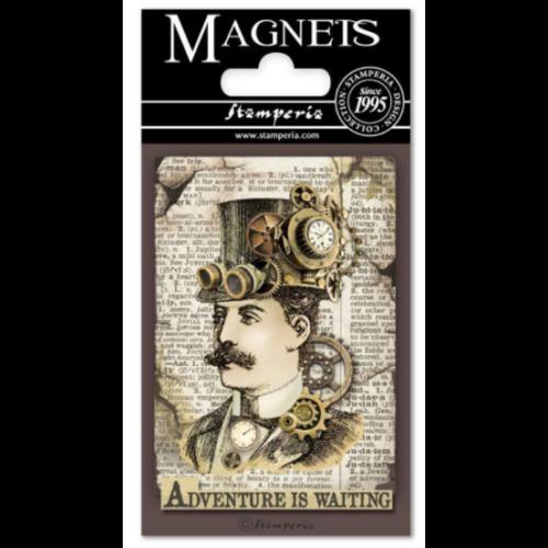 Magnet 8x5,5 cm - Voyages Fantastiques Man