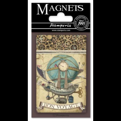 Magnet 8x5,5 cm - Voyages Fantastiques Balloon