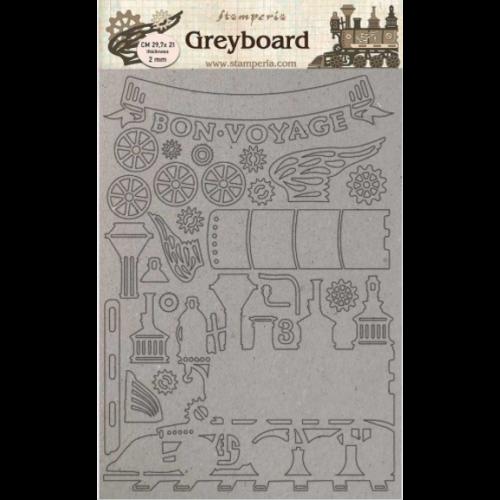 A4 Greyboard /2 mm - Train