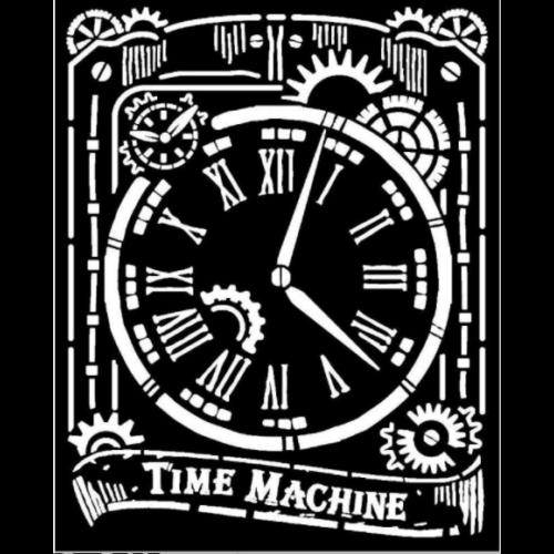 Vastag Stencil 20x25 cm - Clock