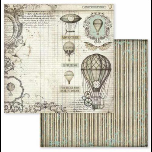 Kétoldalas papír - Voyages Fantastiques air balloon