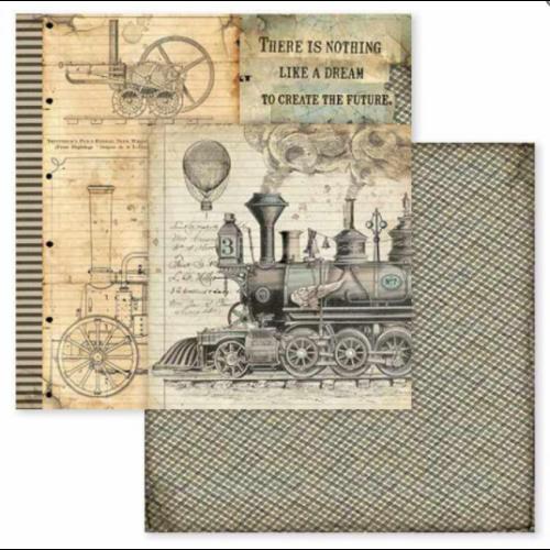 Kétoldalas papír - Voyages Fantastiques stream train