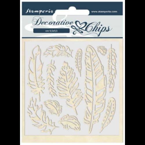 Decorative chips 14x14 cm - Amazon feather