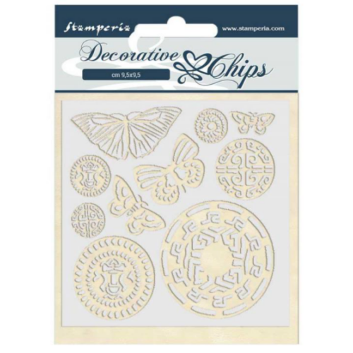 Decorative chips 14x14 cm - Amazon butterfly tribal