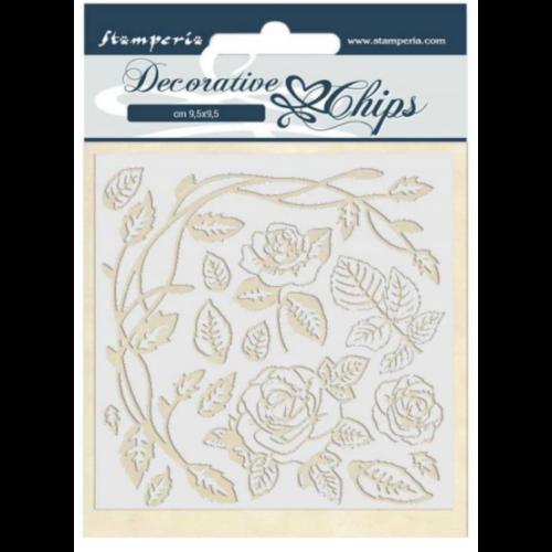 Decorative chips 14x14 cm - Passion roses