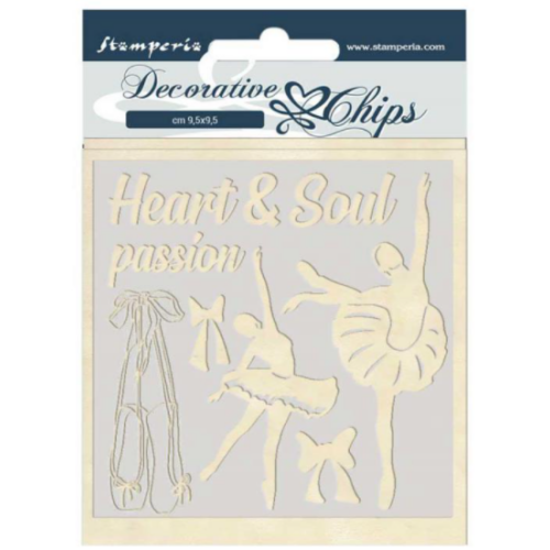 Decorative chips 14x14 cm - Passion dancer