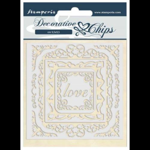 Decorative chips 14x14 cm - Atelier des Arts love frames