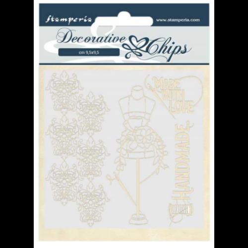 Decorative chips 14x14 cm - Couture