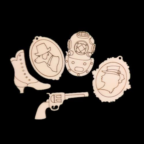 Pentart Steampunk fafigurák